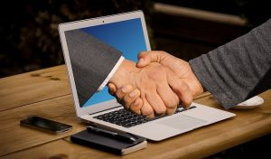 A website can create trust and get a handshake